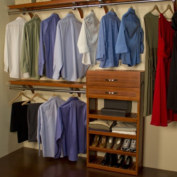 John Louis Deep Woodcrest Carmel Finish 12 Inch Closet
