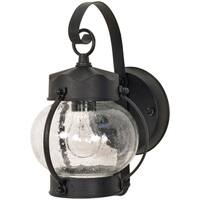 Nuvo 1-light Textured Black Onion Wall Lantern