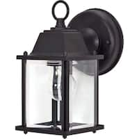 Nuvo 1-light Textured Black Cube Wall Lantern