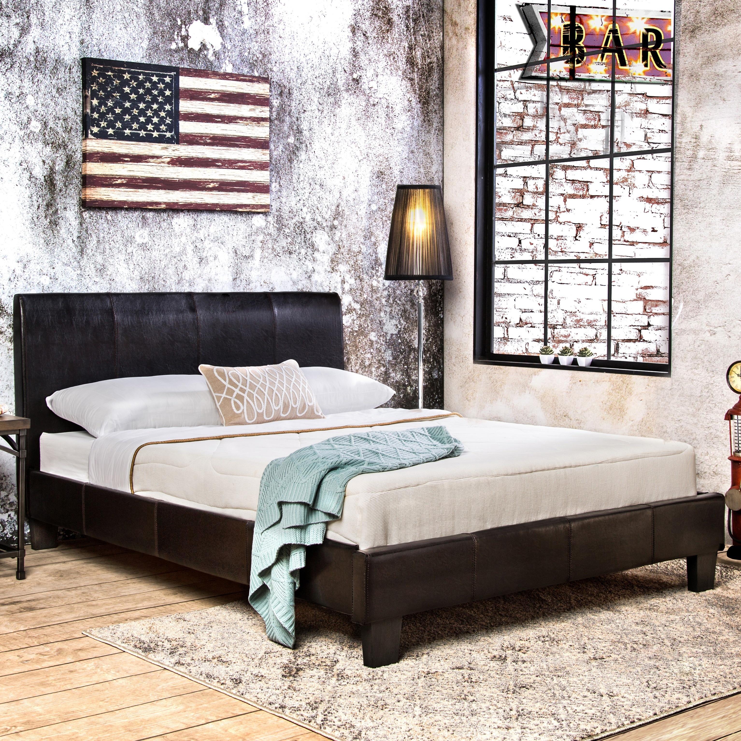 Furniture Of America Villazo Espresso Padded Leatherette