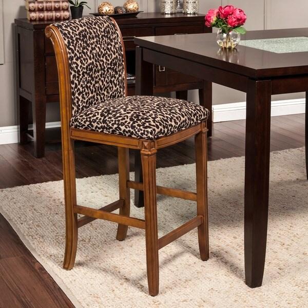 Leopard Animal Print Bar Stool 15295800 Overstock Com