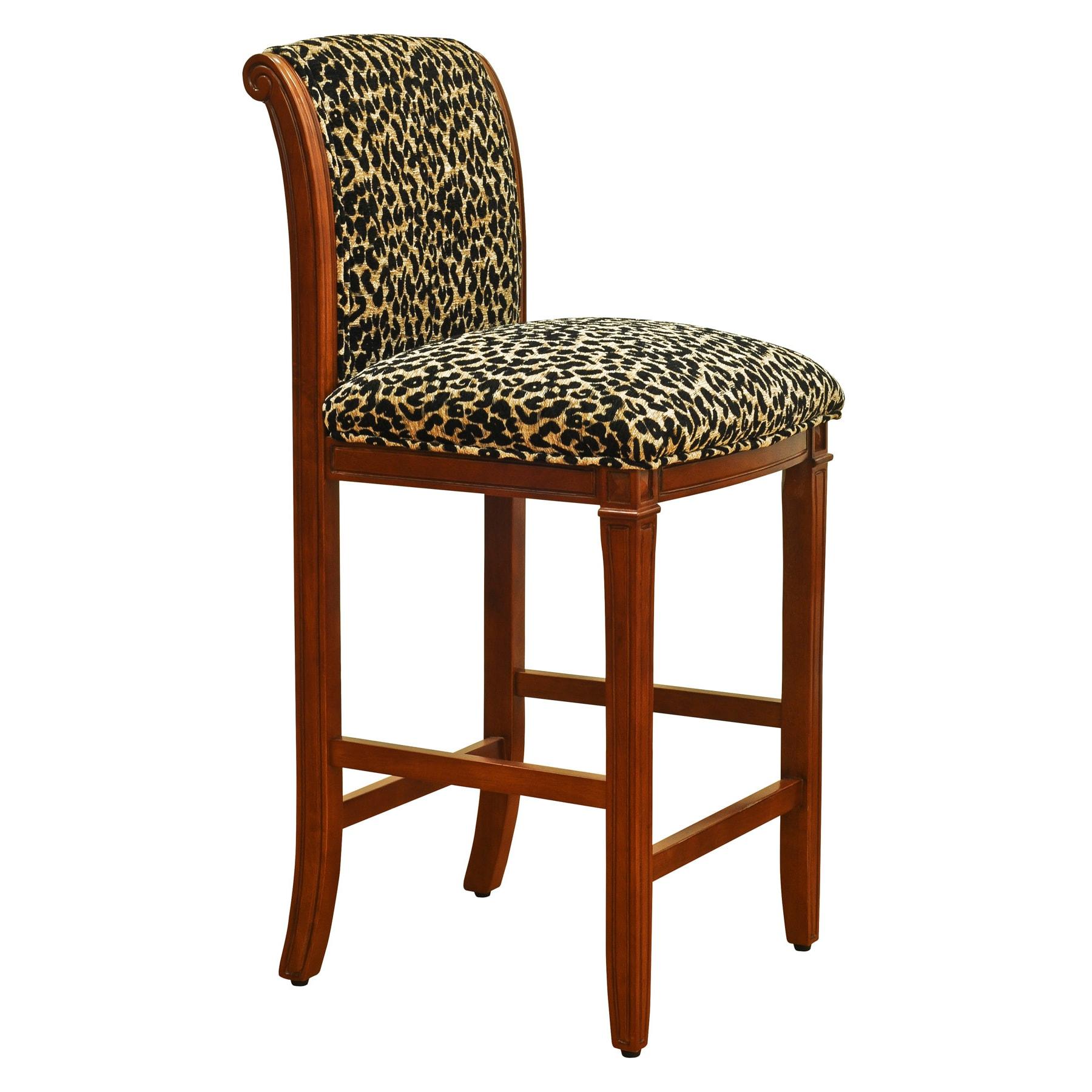 Overstock Bar: Leopard Animal Print Bar Stool