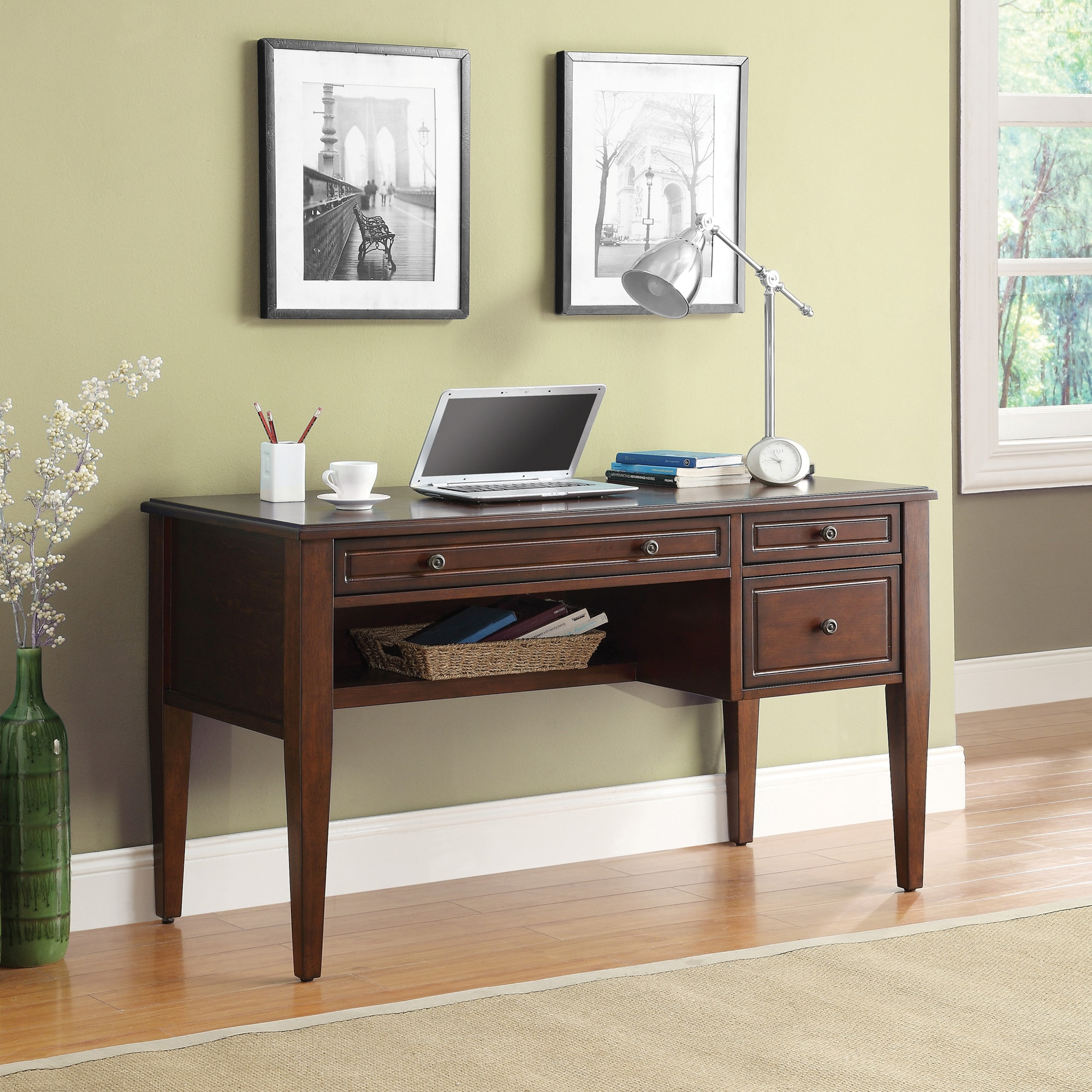 Wonderful Image Of Inspired By Bett Houghton Writing Desk With Pullout Keyboard Drawer 8e66