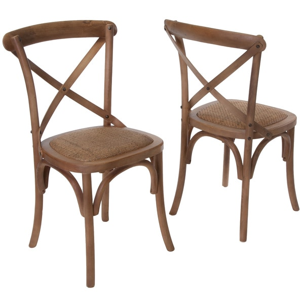 christopher knight home smith light brown cross back dining chairs set of 2 15316145. Black Bedroom Furniture Sets. Home Design Ideas