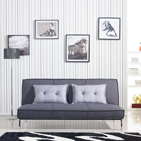 Vitoria 76inch Charcoal Grey Sleeper Sofa Bed With French