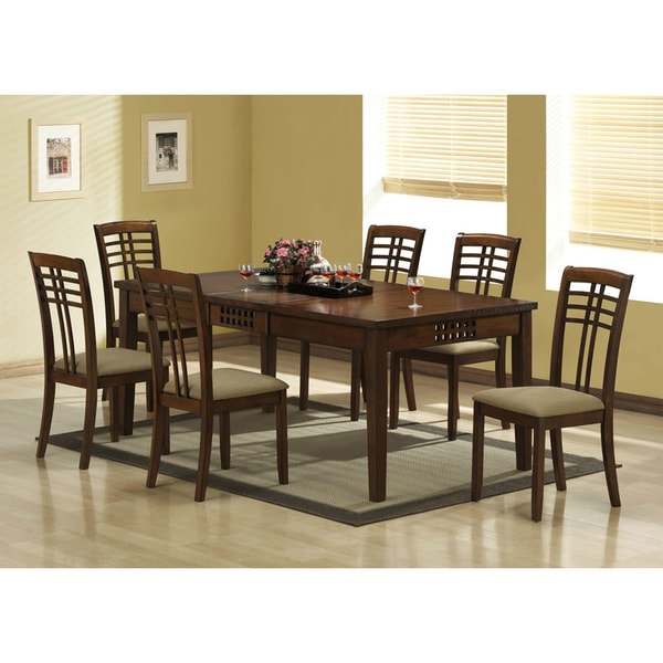 Dining Room Table Extender: Walnut Veneer Dining Table With 18-inch Extension