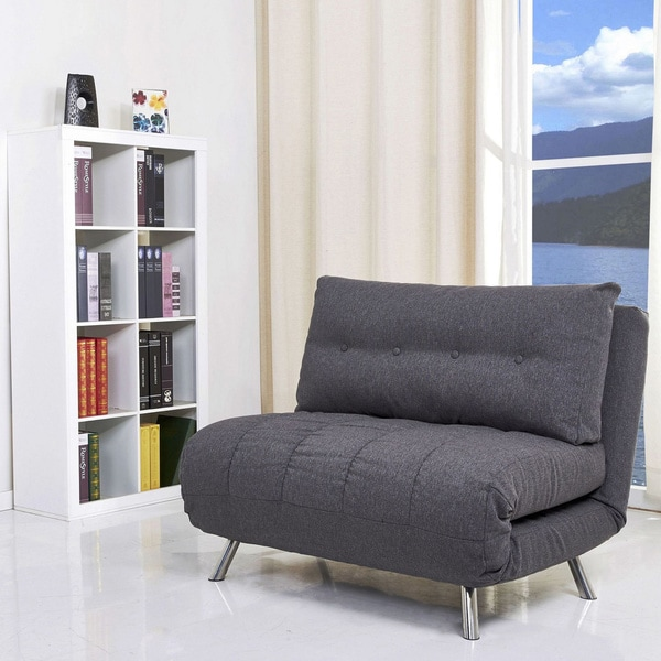 Tampa Gray Convertible Large Chair Bed 15316978