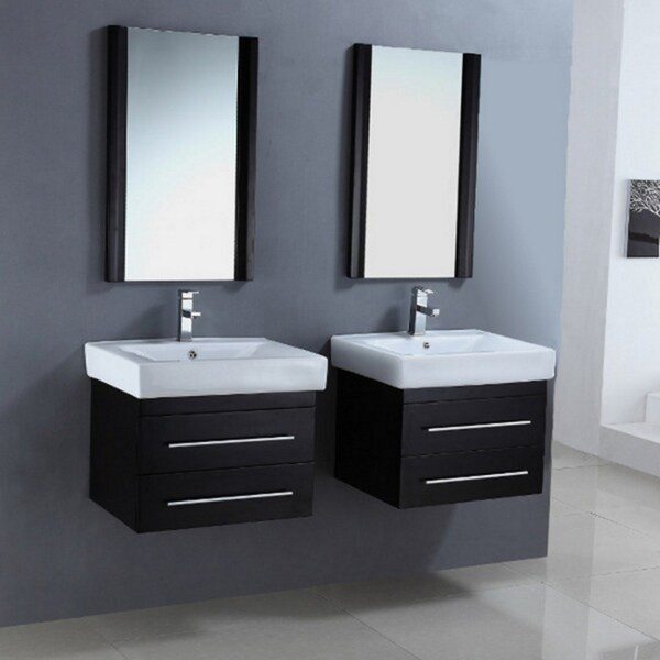 Ceramic Sink Top 24 Inch Single Sink Dual Bathroom Vanity Set 15320216 Overstock Com