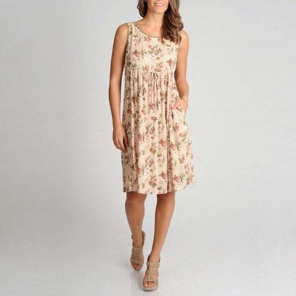 La Cera Women S Tiered Printed Casual Dress Overstock