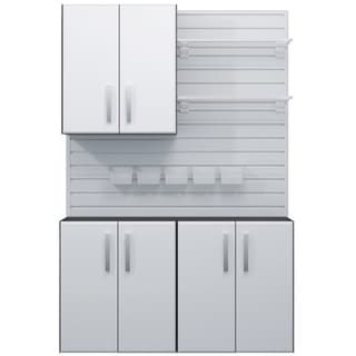 Prepac Winslow Elite White 3 Door Wall Cabinet