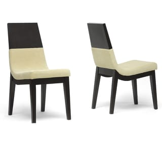 Baxton Studio Ingram Clear Plastic Stackable Modern Dining Chairs Set Of 2