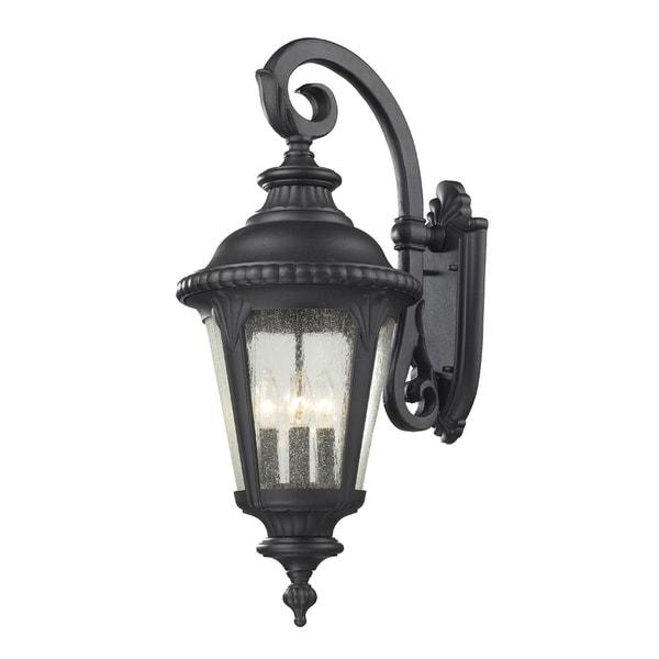Discount Outdoor Wall Lighting: Medow 4-light Black Outdoor Wall Fixture