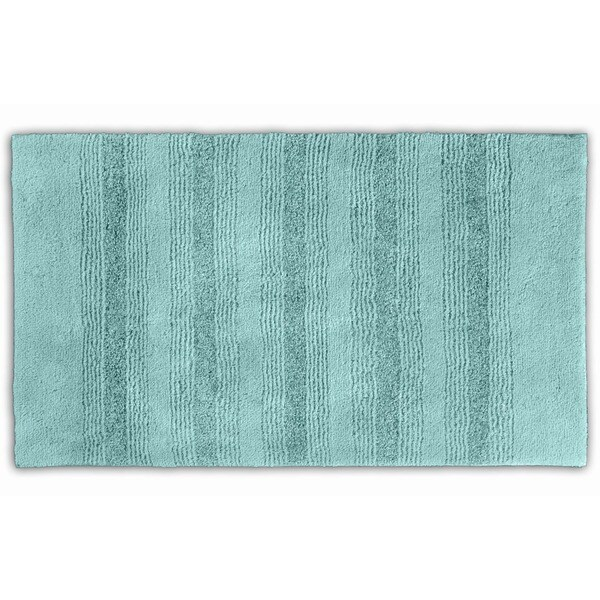 Somette Westport Stripe Sea Foam Washable 30 x 50 Bath Rug ...