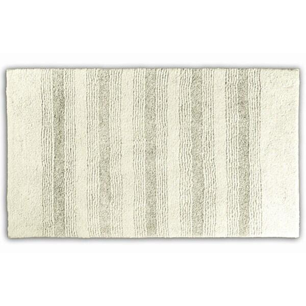 Somette Westport Stripe Chalk Washable 30 x 50 Bath Rug ...