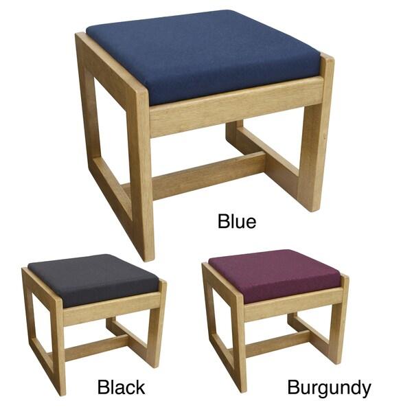 Single Seat Wood Fabric Bench 15340408 Overstock Com