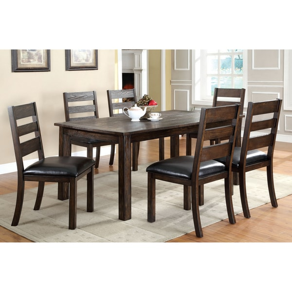 Furniture Of America Dubelle 7 Piece Formal Dining Set: Furniture Of America Jolson Transitional Natural Wood