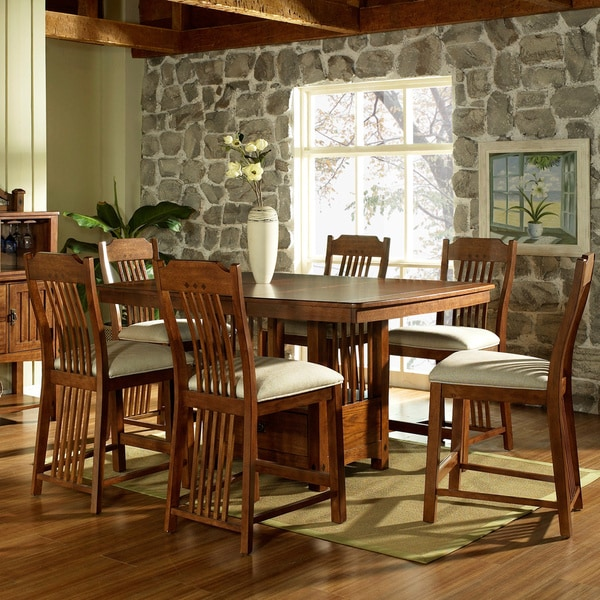 7 Piece Counter Height Dining Room Sets: Somerton Dwelling Craftsman 7-piece Counter Height Dining
