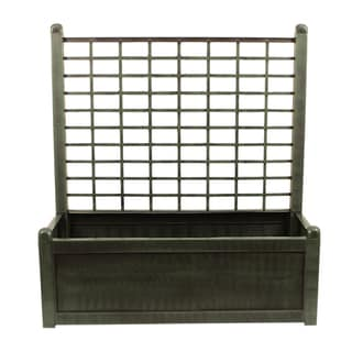 Green Planter Box With Trellis 15352513 Overstock Com