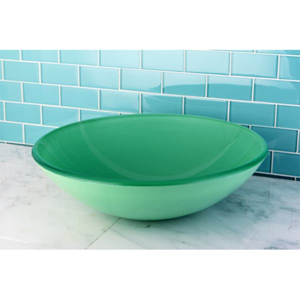 Green tempered glass bathroom vessel sink 15352575 - Green glass vessel bathroom sinks ...