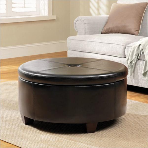 Winston Large Round Button Top Storage Ottoman 15357849
