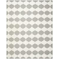 Safavieh Transitional Handwoven Moroccan Reversible Dhurrie Grey Wool Rug - 6' x 9'
