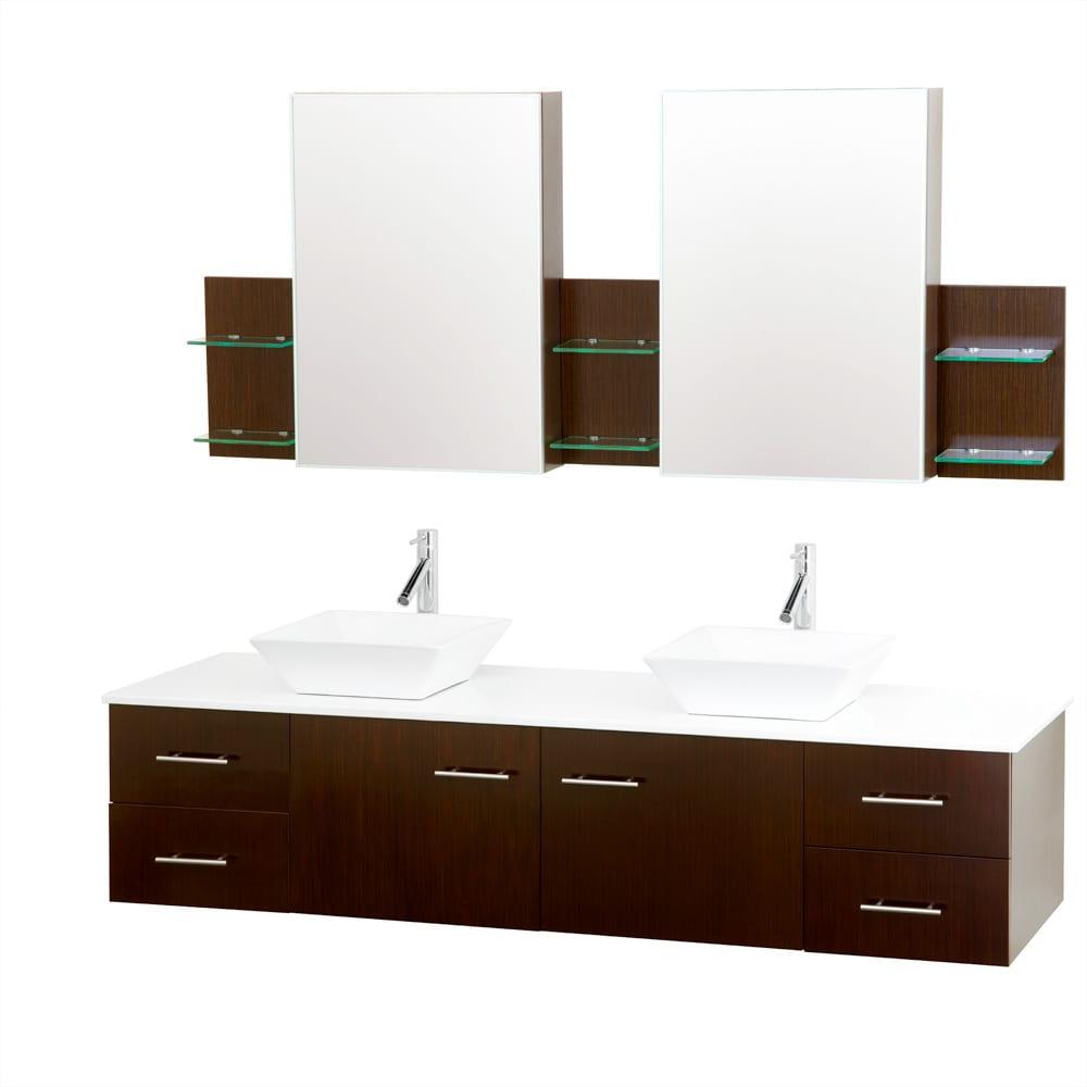 bianca 72inch wallmounted iron wood double bathroom