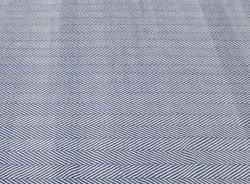Nuloom Handmade Flatweave Herringbone Chevron Navy Cotton