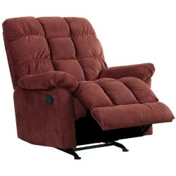 Clinton Wine Red Fabric Rocker Recliner Chair 14381718