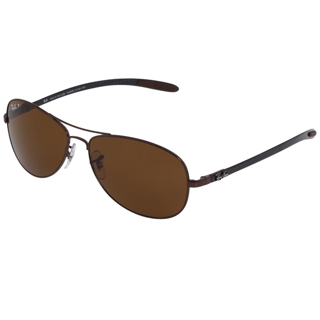 36840358bb2 Ray Ban Unisex RB 8301 Brown Carbon Fiber Aviator Sunglasses on ...