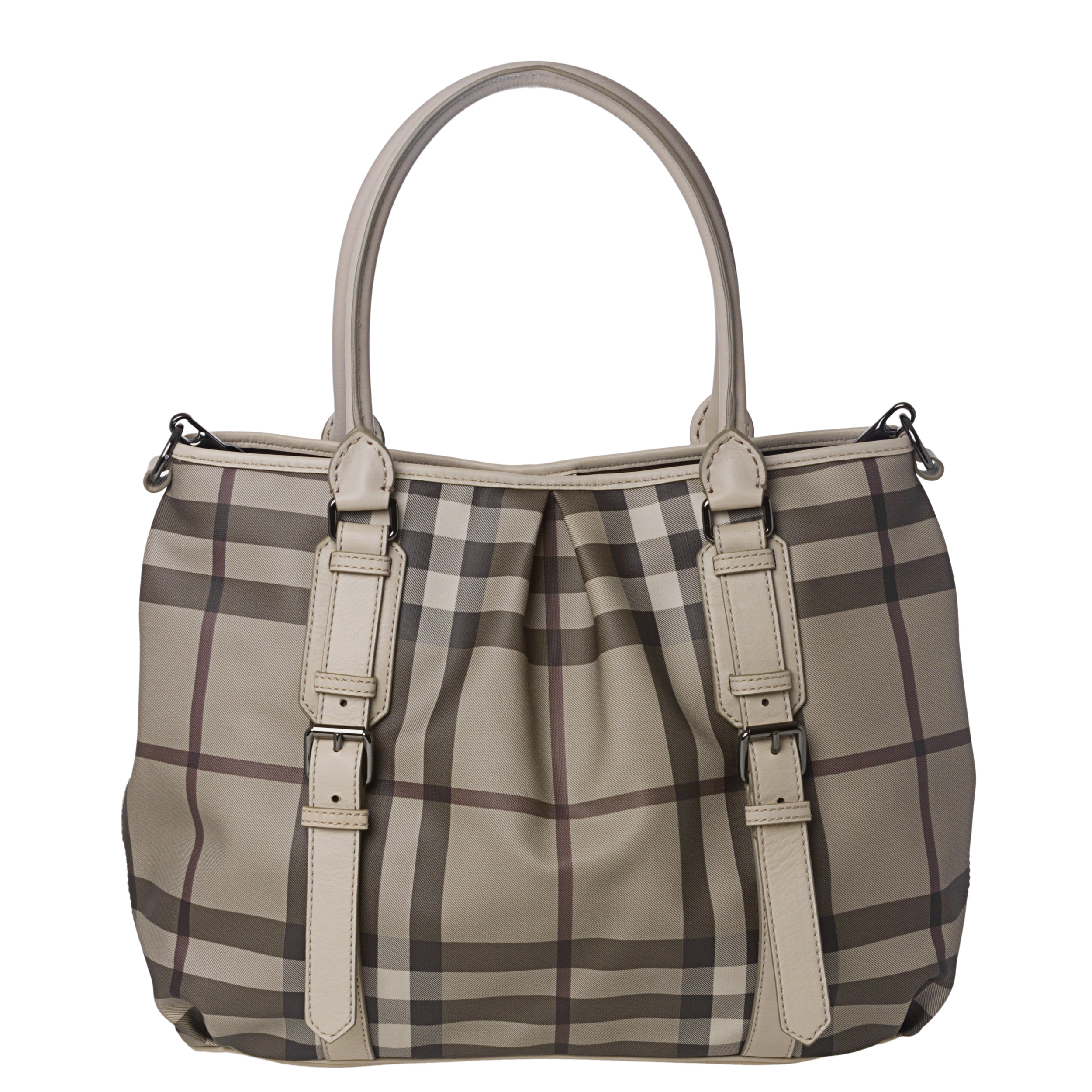 Burberry Medium Smoked Check Canvas  Leather Tote Bag on PopScreen 45549662c1cea