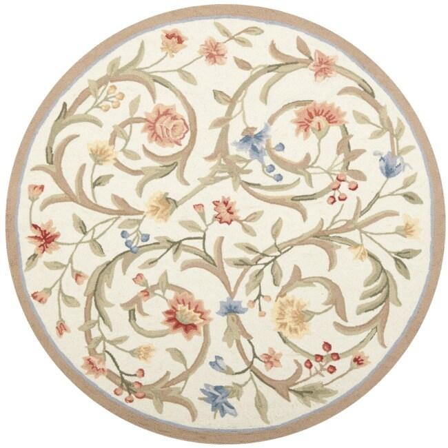 Safavieh Hand Hooked Garden Scrolls Ivory Wool Rug 5 6