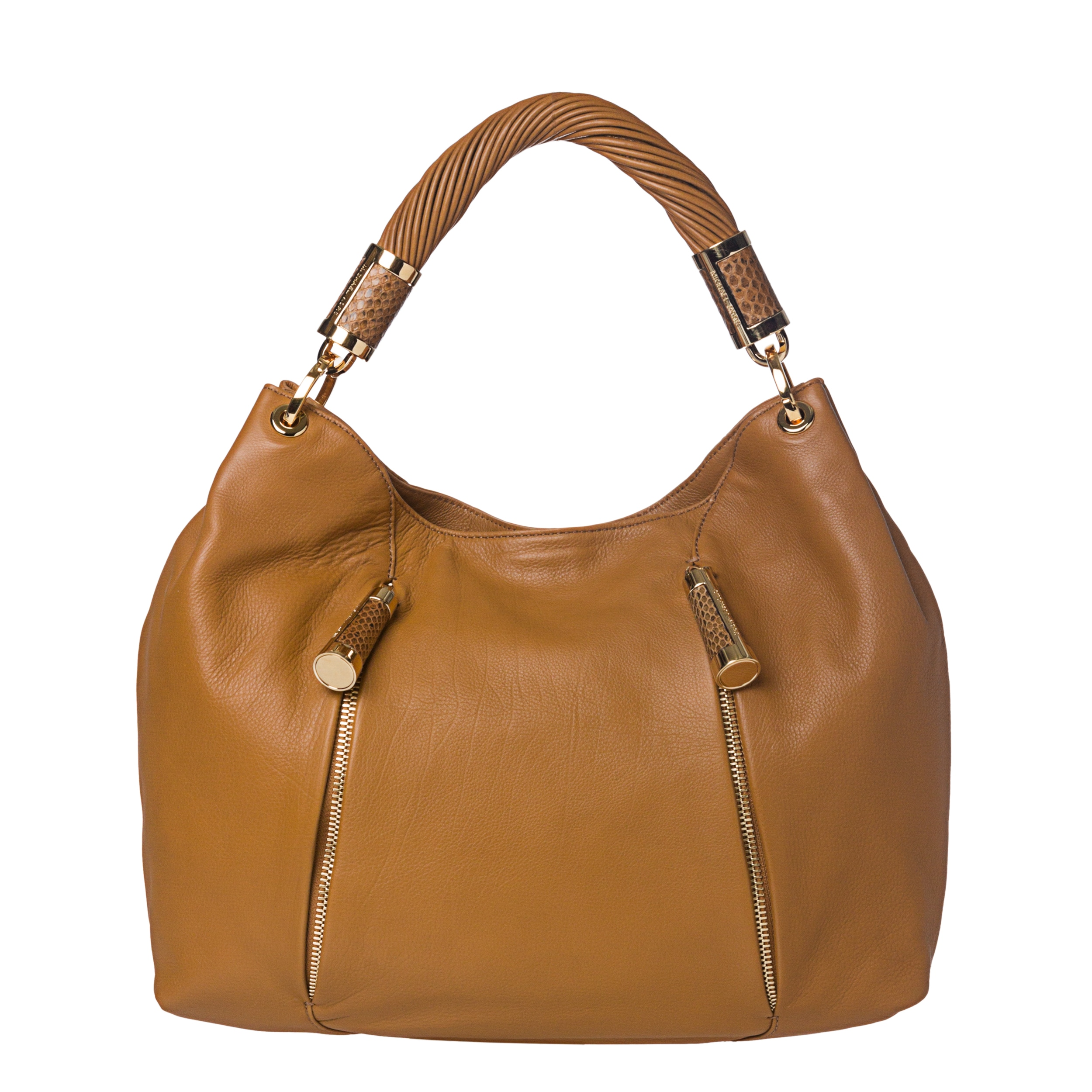 55102a74330c Michael Kors Tonne Tan Leather Hobo Bag on PopScreen