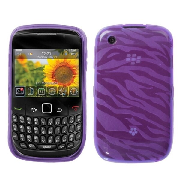 INSTEN Zebra Phone Case Cover for Blackberry Curve 8520/ 8530/ 9300 3G/ 9330
