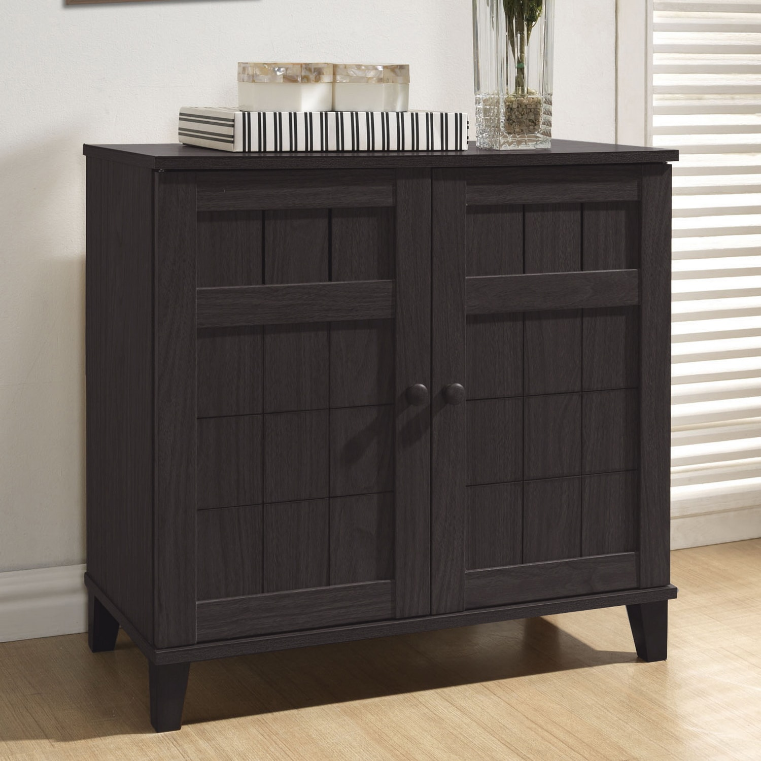 Foyer Cabinets: Shoe Cabinet Wood Wardrobe Storage Organizer Foyer