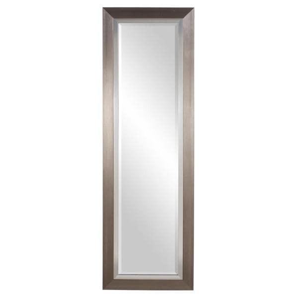 Chicago Brushed Silver Lakeshore Mirror 15379127