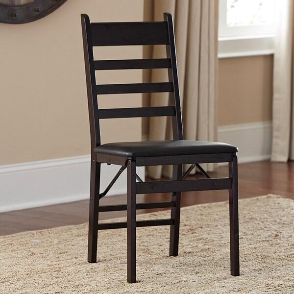 Cosco Wood Ladder Back Folding Chair Set Of 2 15379121