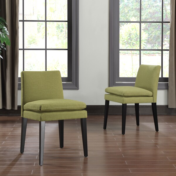 Inspire Q Andorra Velvet And Faux Alligator Leather Dining: Portfolio Orion Apple Green Linen Upholstered Dining