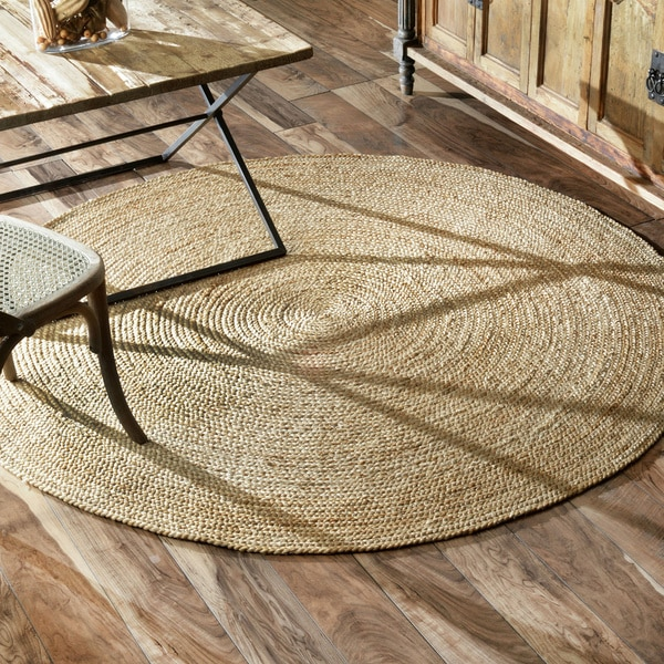 Nuloom Alexa Eco Natural Fiber Braided Reversible Jute Rug