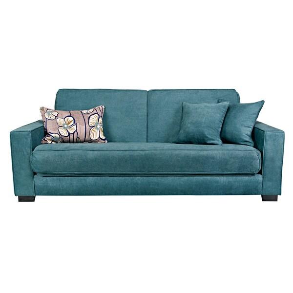 Angelo Home Grayson Parisian Teal Blue Convert A Couch