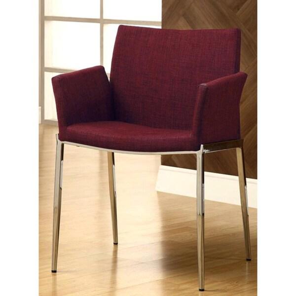 Burgundy Dining Room: Soho Style Burgundy/ Chrome Arm Chairs (Set Of 2