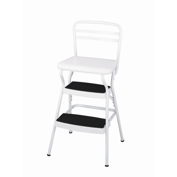 Magnificent Cosco 3 Step White Stool Vintage Cosco Step Stool Gets A Lamtechconsult Wood Chair Design Ideas Lamtechconsultcom