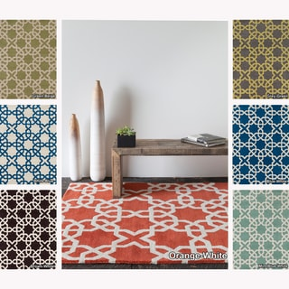 Hand Tufted Moroccan Pattern Wool Rug 7 X 10