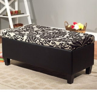 Simple Living Black Storage Chaise 11608105 Overstock