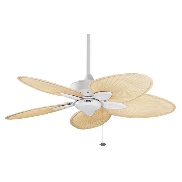 Fanimation Windpointe 44 Inch Matte White Palm Blades Ceiling Fan 15393781 Overstock Com