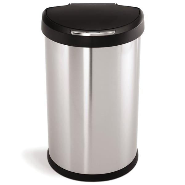 Simplehuman Semi Round Sensor Trash Can 45 Liters 12