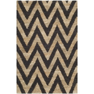 Safavieh Hand Knotted Organic Black Natural Wool Rug 8