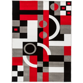 Everrouge 3d Poly Silk Red Area Rug 8 X10 14359709