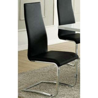 Inspire Q Wragby Black Contoured Modern Dining Chairs Set