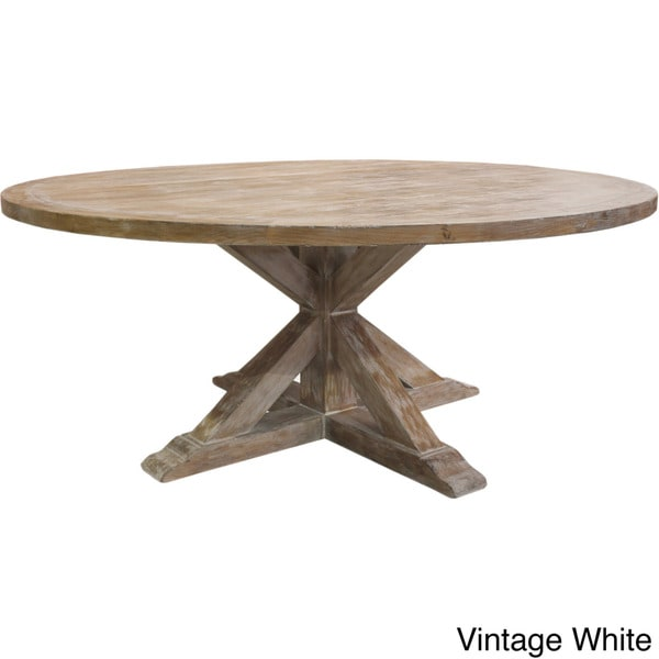 Round Wood Dining Table: La Phillippe Reclaimed Wood Round Dining Table