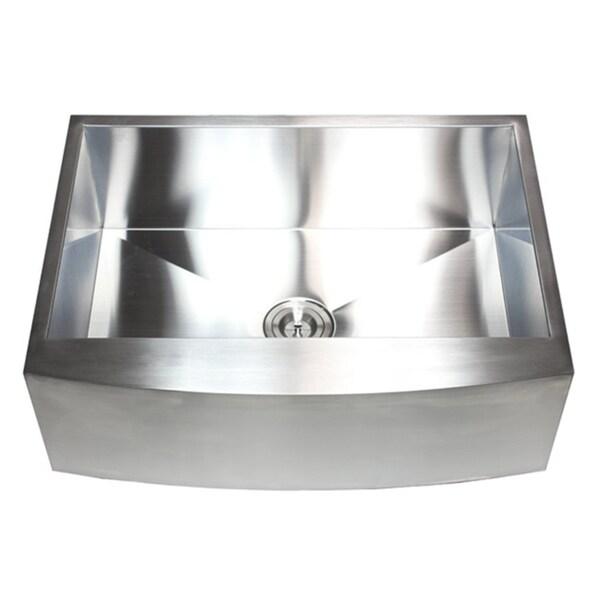 Farmhouse Stainless Steel Single-bowl Curve Apron